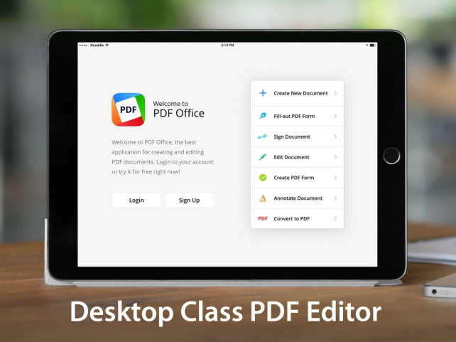 Now lets you easily create and edit pdf files with pdf office for ipad