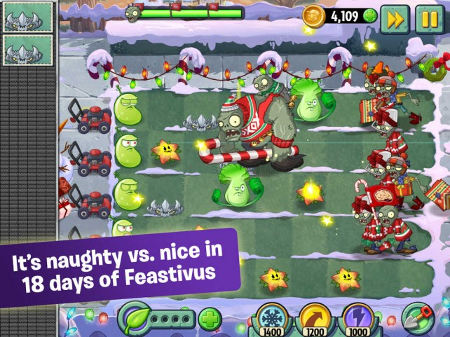 Zombie, it's cold outside: PopCap's Plants vs. Zombies 2 receives 'Feastivus' update