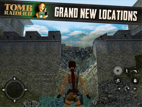Tomb Raider II, featuring Lara Croft, swoops onto the App Store