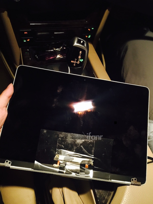 The purported display of the 12-inch MacBook Air.