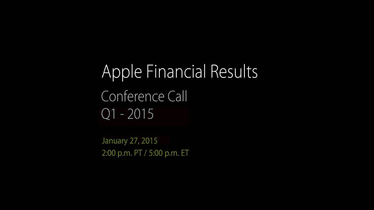 Apple Q1 2015 financial results