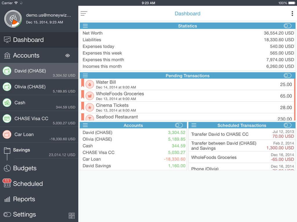 MoneyWiz 2 for iPad