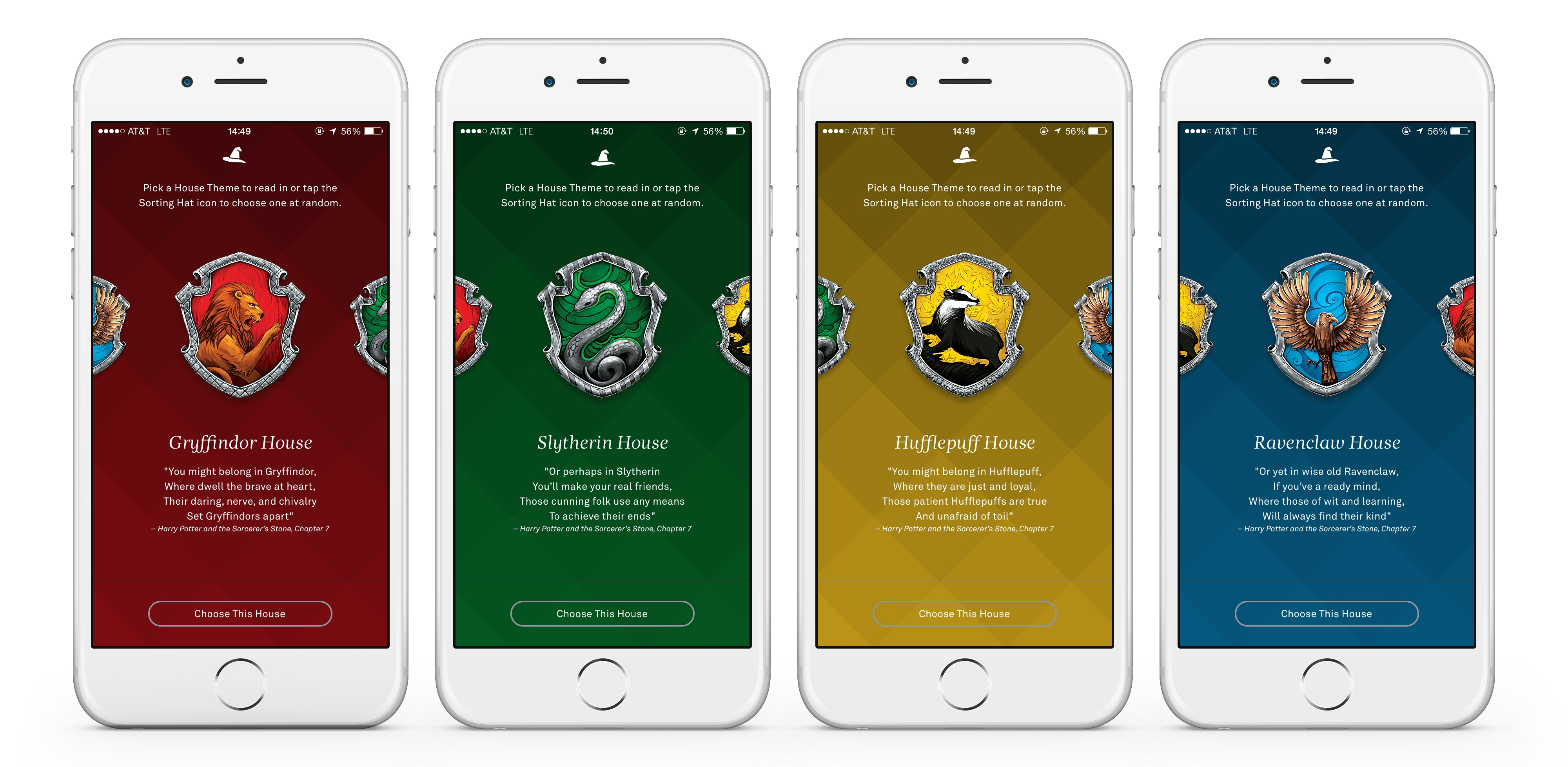 Get sorted to your favorite Hogwarts House when you read a Harry Potter book on Oyster.