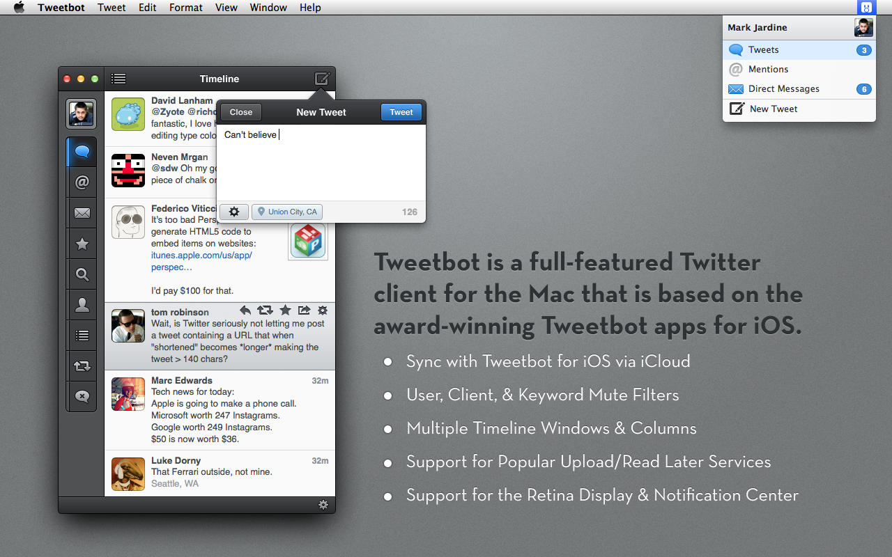 Tweetbot for Mac has come back on the Mac App Store