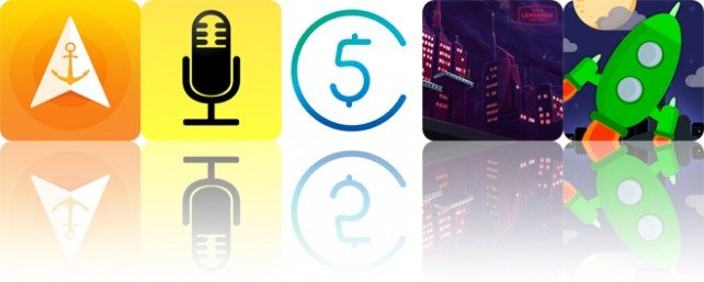 Todays apps gone free: Anchor Pointer, Audio Notebook, 5coins and more