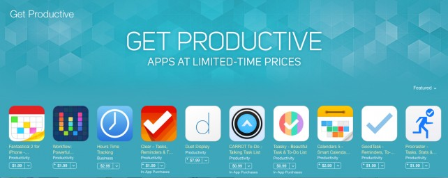 Apple offers some great discounts on a number of powerful productivity apps