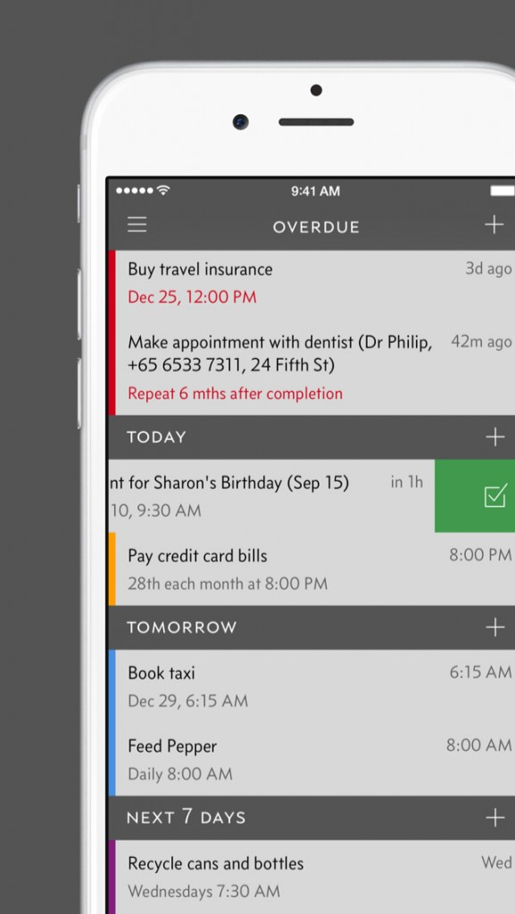 Make sure your tasks get done with Due's huge new update.