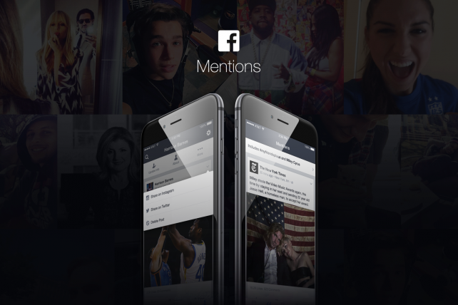 Facebook Mentions 2.0 lets celebs post to other social networks and keep track of other topics