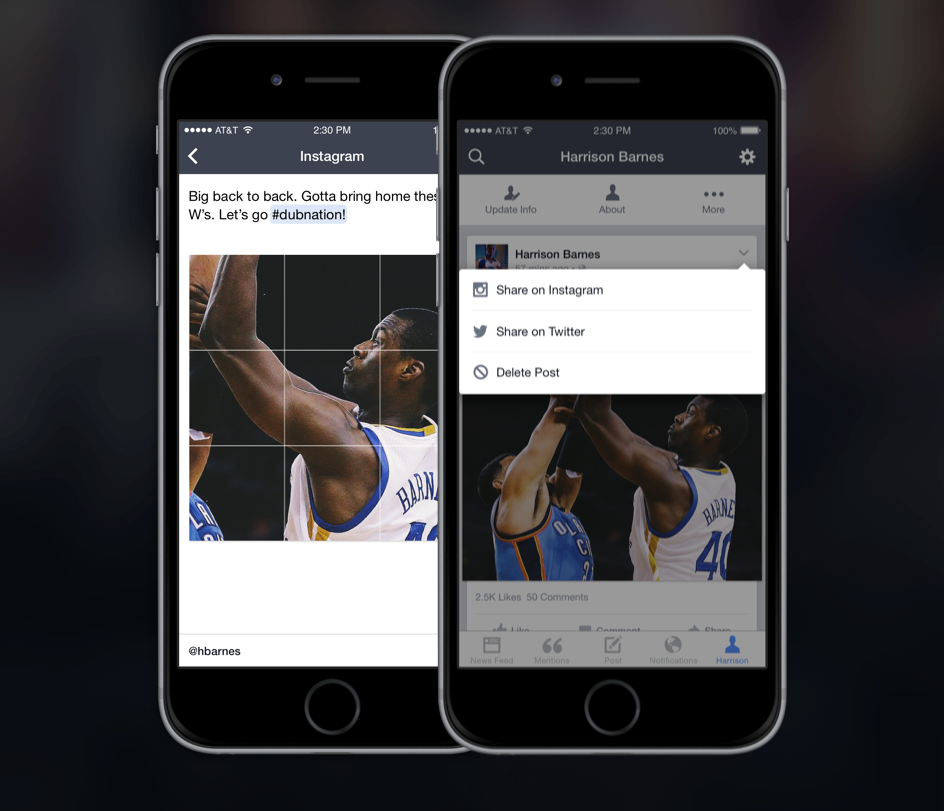 Facebook Mentions now supports sharing posts to Instagram and Twitter.