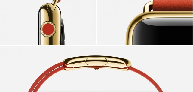 The Apple Watch is featured in a multi-page ad spread in the March edition of Vogue magazine