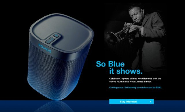Sonos and Blue Note Records team up to introduce a limited-edition Play:1 wireless speaker
