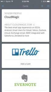 CloudMagic Cards