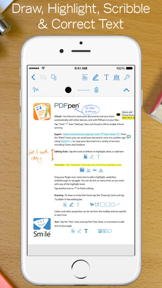 Smile's PDFpen 2 for iOS adds support for FiftyThree's Pencil and more