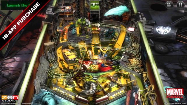 Marvel Pinball goes free, all of its IAP Marvel tables are now on sale