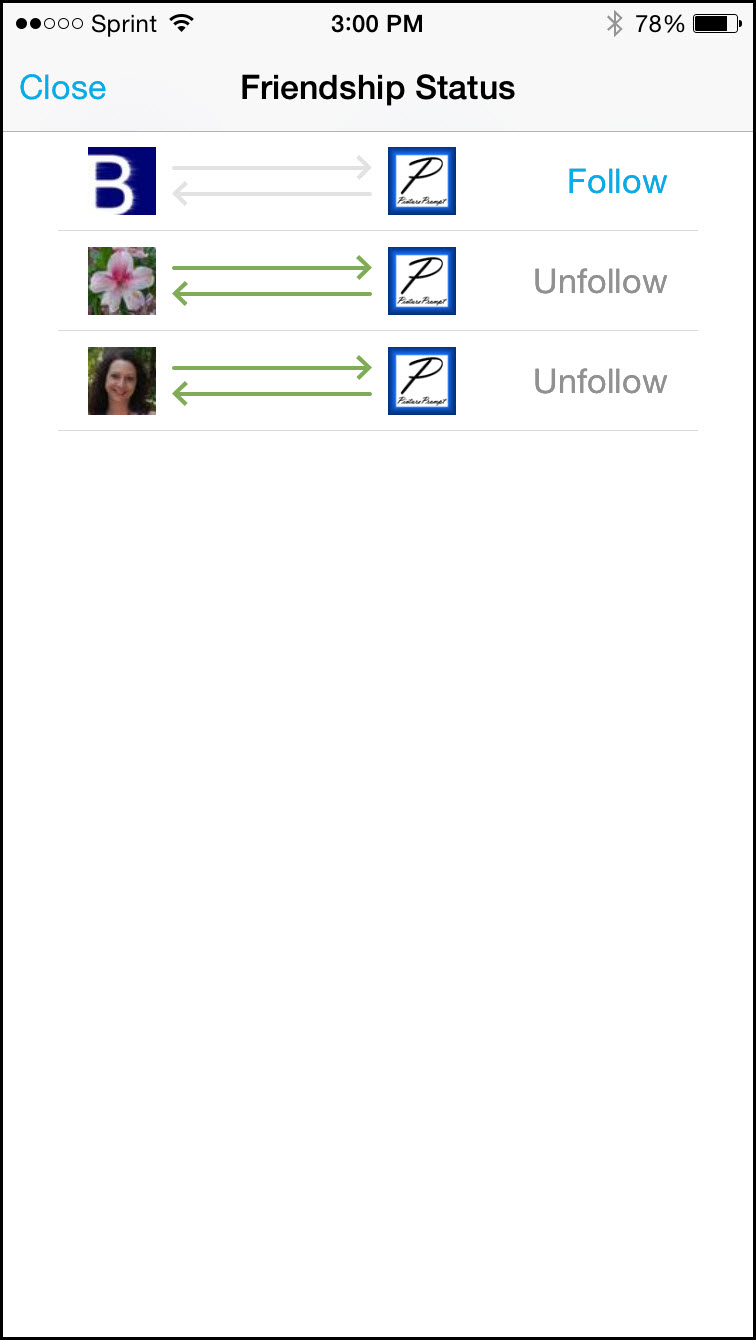 Hootsuite Friendship Status