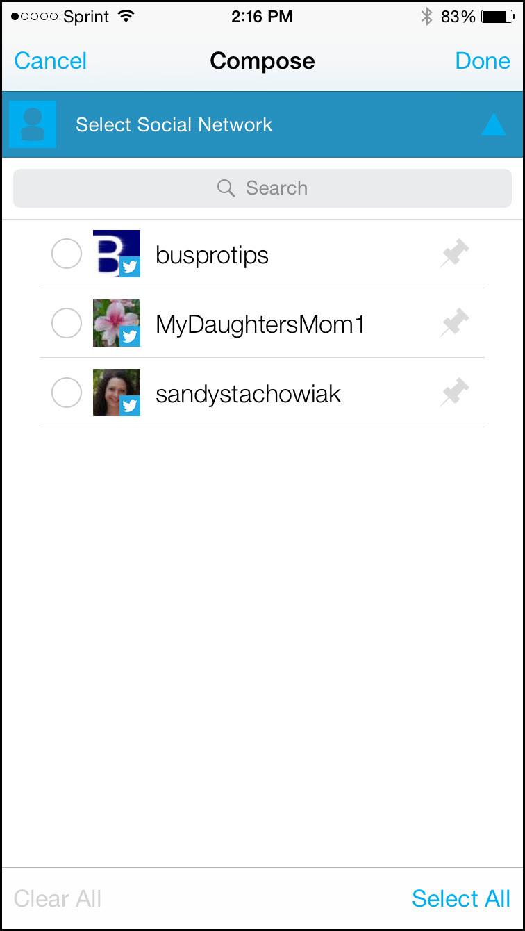 Hootsuite Select Social Network