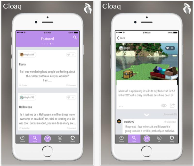 Cloaq for iOS.