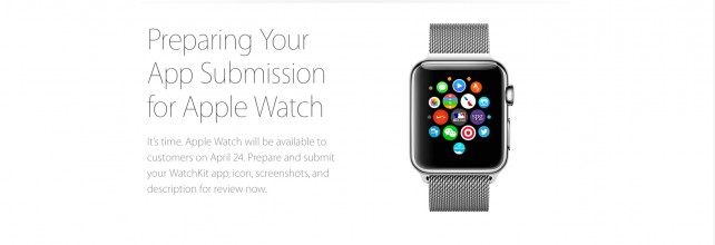 Apple invites all third-party developers to submit their Apple Watch apps
