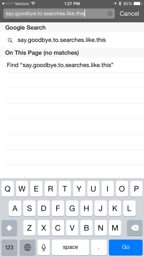 Apple's iOS 8.3 offers a nice change to the keyboard layout in Safari