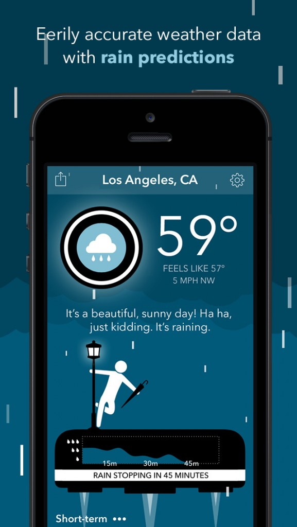 It's going to be cloudy with a chance of snark in Carrot Weather, the weather app with personality