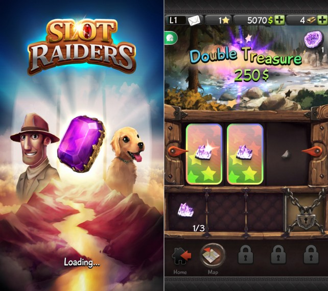 Spin the reels in Slot Raiders for a chance to win an iTunes gift card