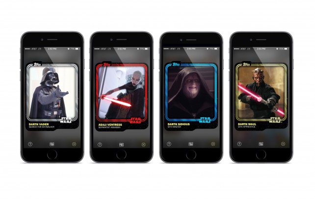 The new Star Wars: Card Trader app from Topps features digital cards from Star Wars: The Force Awakens