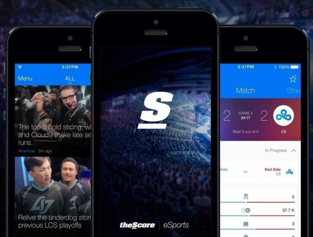 TheScore releases eSports app for iOS