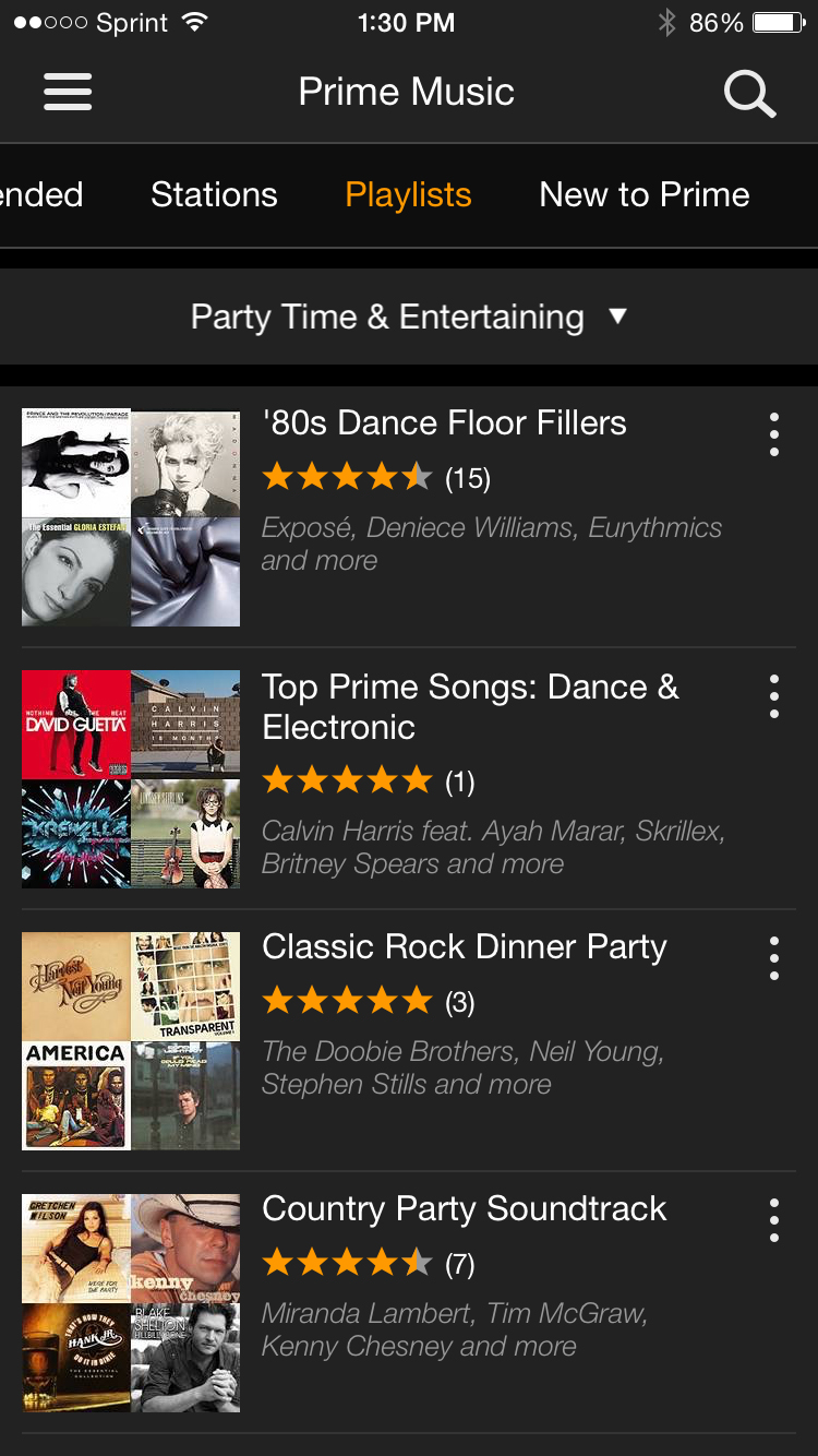 Amazon Prime Music App
