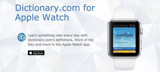 Dictionary.com defines Apple Watch functionality in new app update