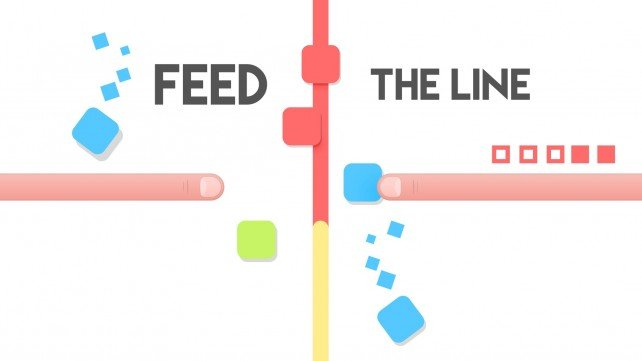 You need sharp reflexes to keep the blocks in place in Feed the Line, an arcade game coming in May