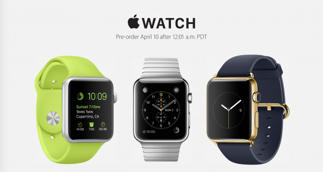 Reservations for the Apple Watch will be limited to 1 per customer
