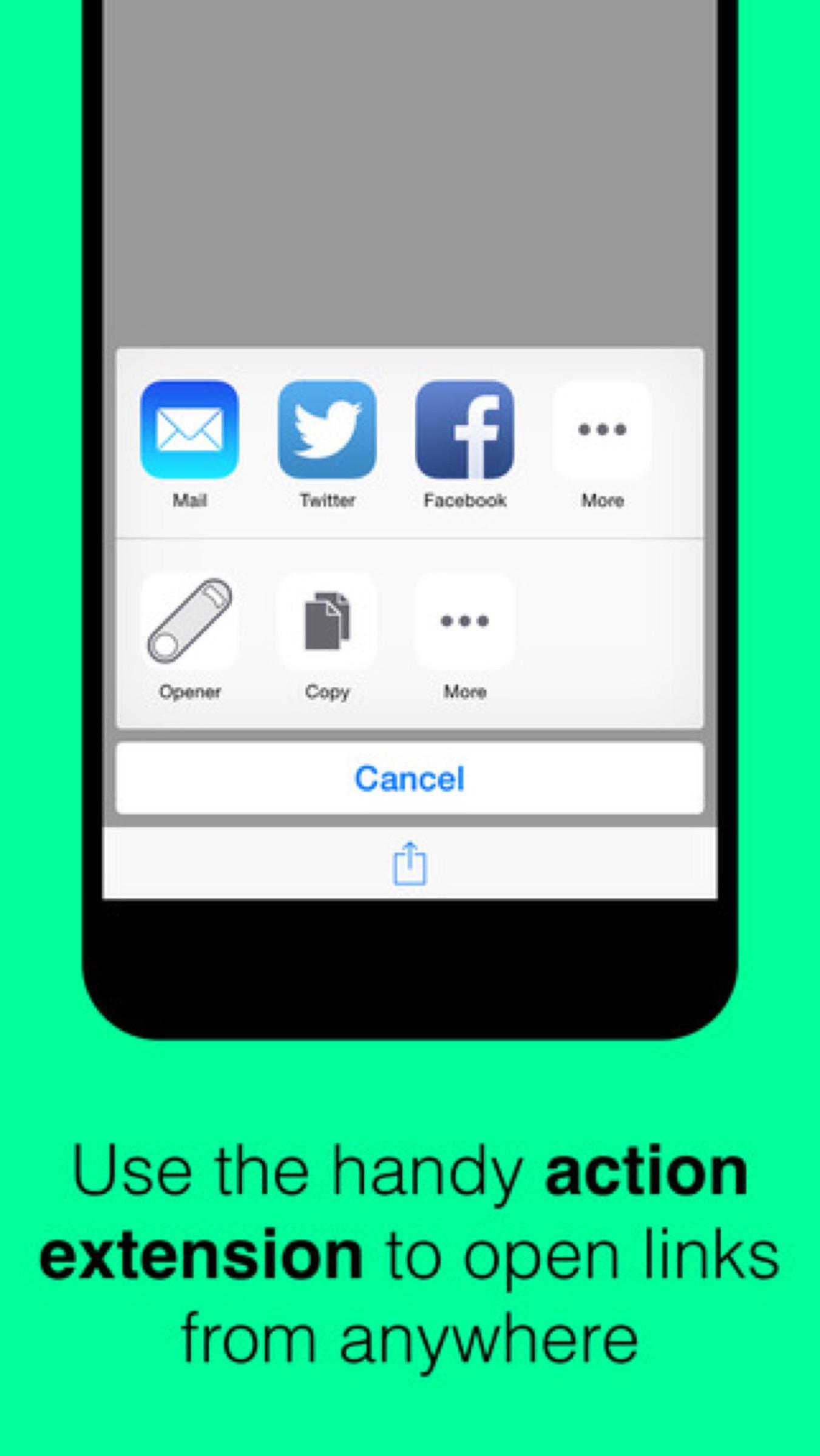 Open Web links in iOS apps with Opener
