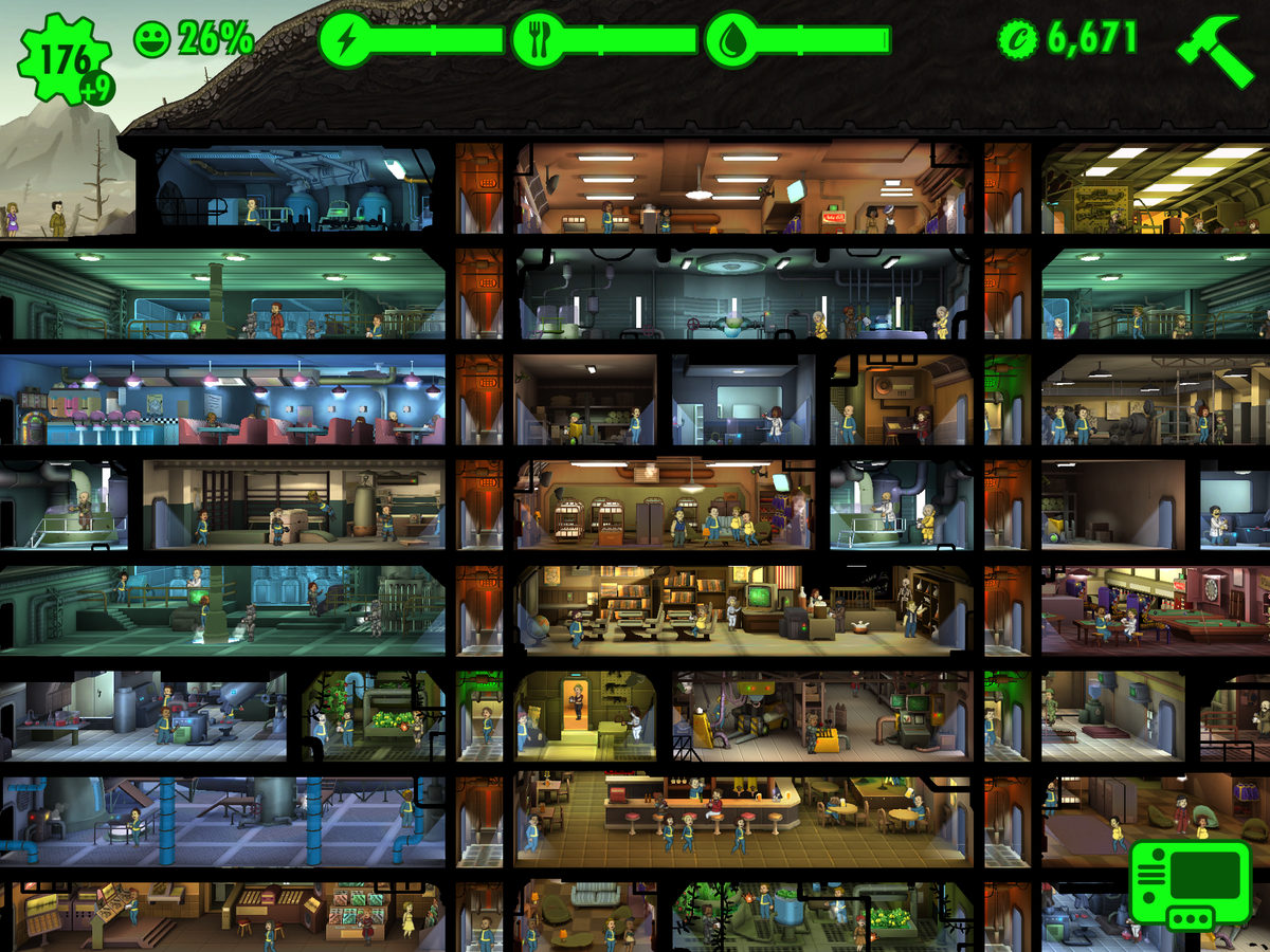 Build the perfect underground vault in fallout shelter for Build a room app