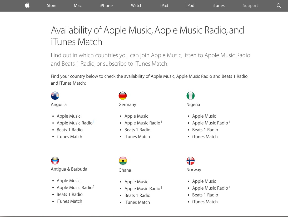 how to change apple music country