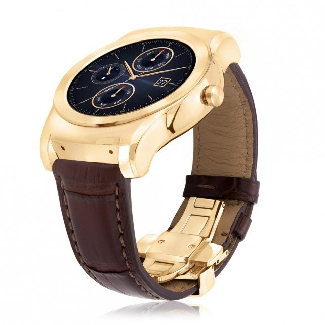 LG's gold-plated Urbane Luxe smartwatch is priced at just $1,200