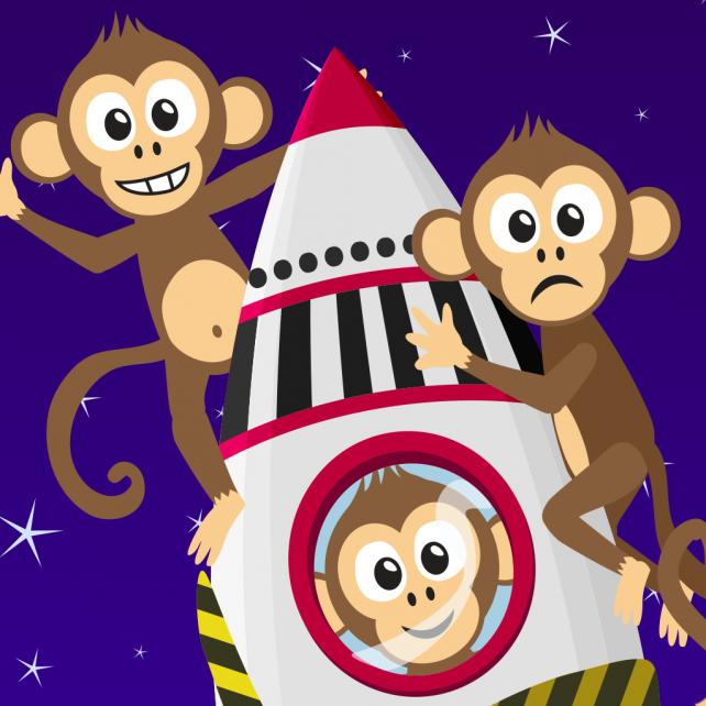 One banana, two banana, three banana, score in Monkey Blast!