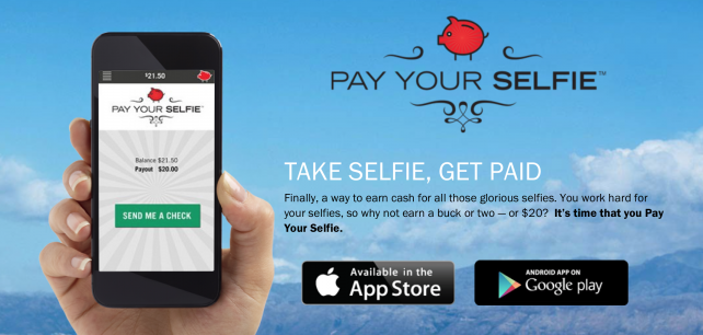 Now you can trade your iPhone-captured selfies for real cash