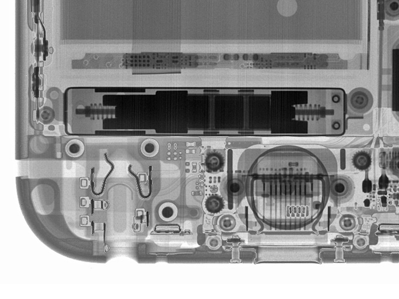 X-Ray image showing the Taptic Engine in the iPhone 6s. Image credit: iFixIt