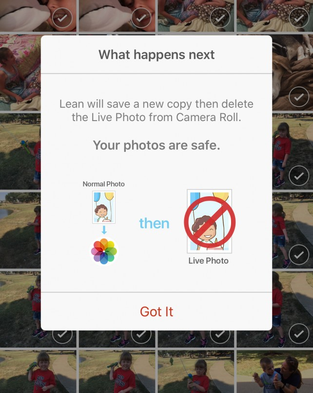The new Lean app helps turn Live Photos back into regular images