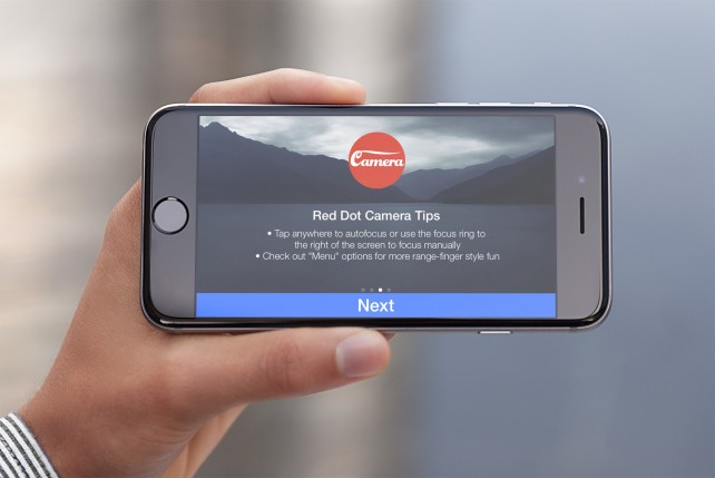 Retro-style Red Dot Camera Free is now available