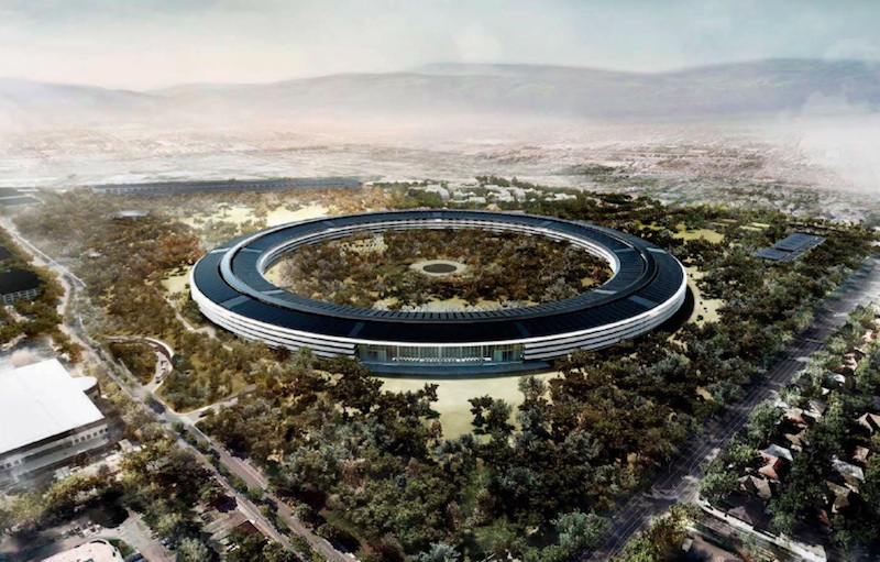 """Apple Campus 2 rendering"" by Apple, Inc. - http://www.cupertino.org/index.aspx?page=1107. Licensed under CC BY-SA 3.0 via Commons."