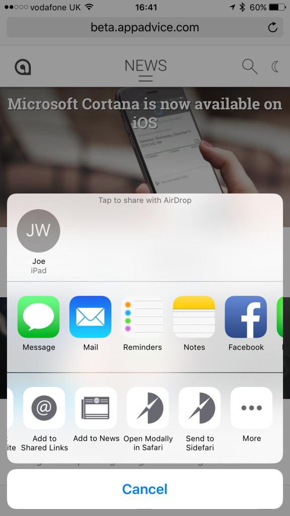 Sidefari for iPhone.