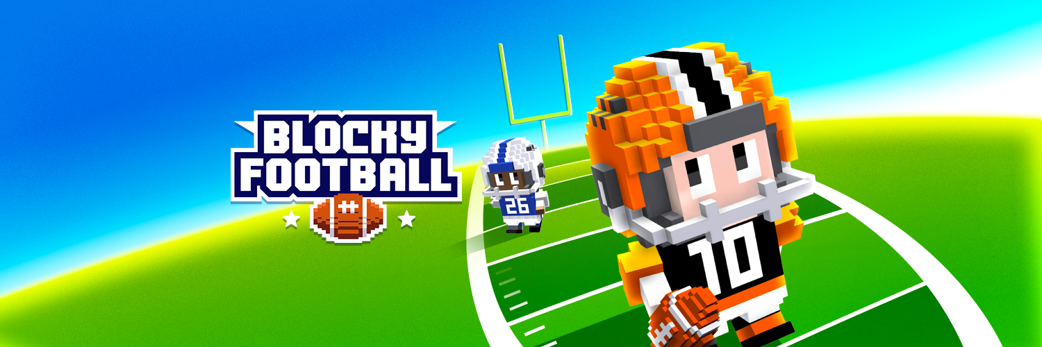 Blocky Football hero