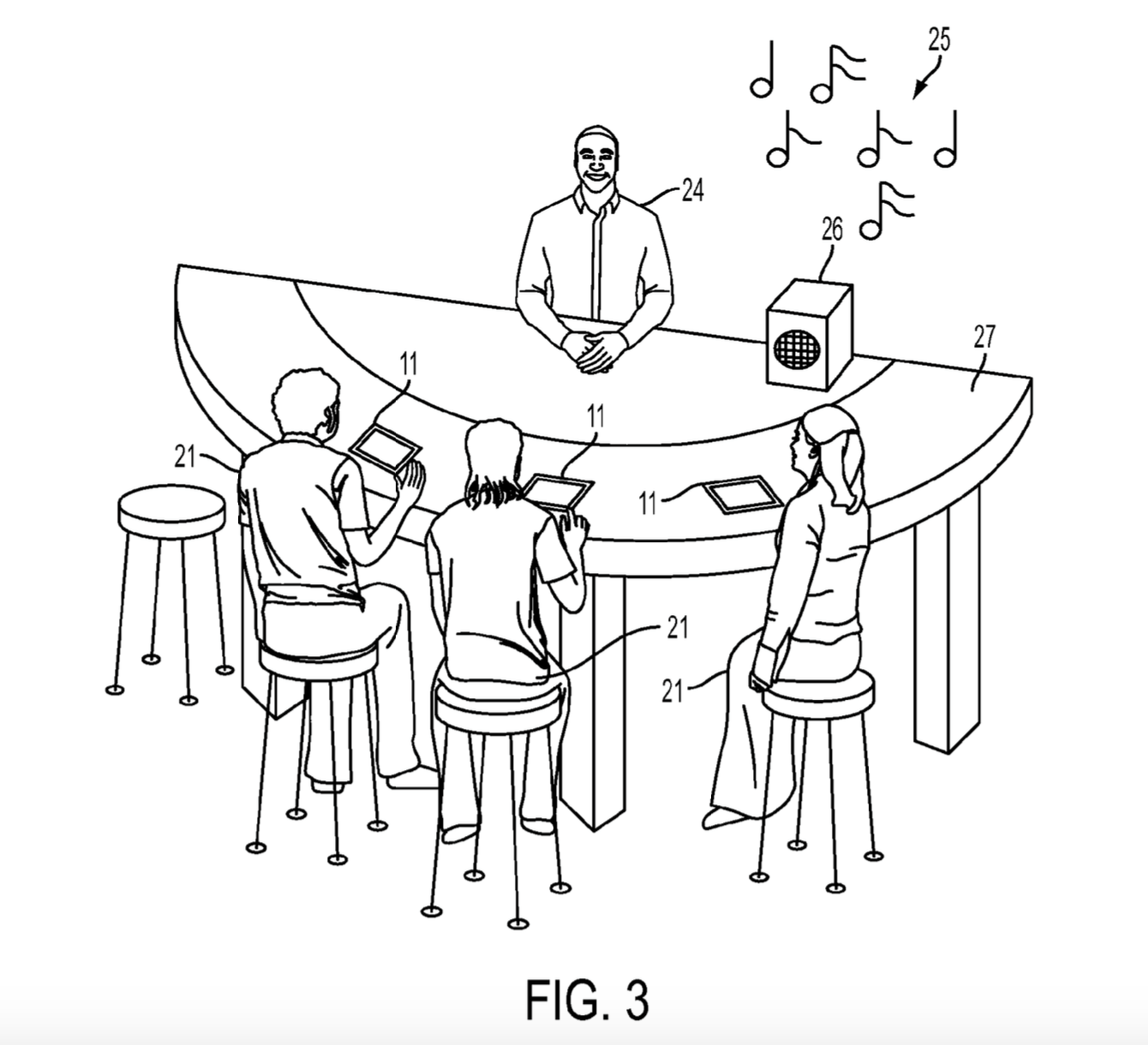 A screenshot from Apple's patent application demonstrates what a noisy environment might look like.