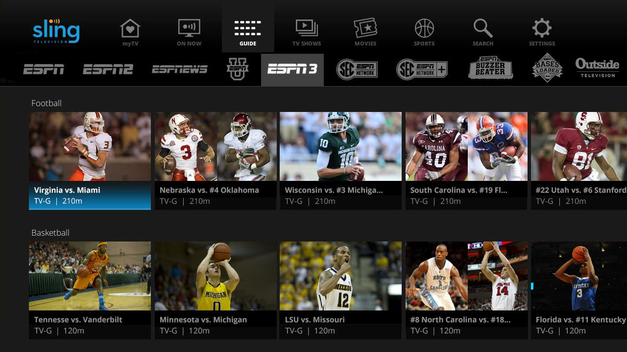 Sling TV Rolls Out New Personalization Features, ESPN3