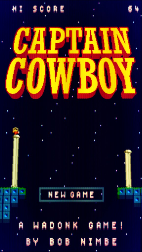 captain cowboy, games for ios, puzzle games, adventure games, designed by wadonk ab