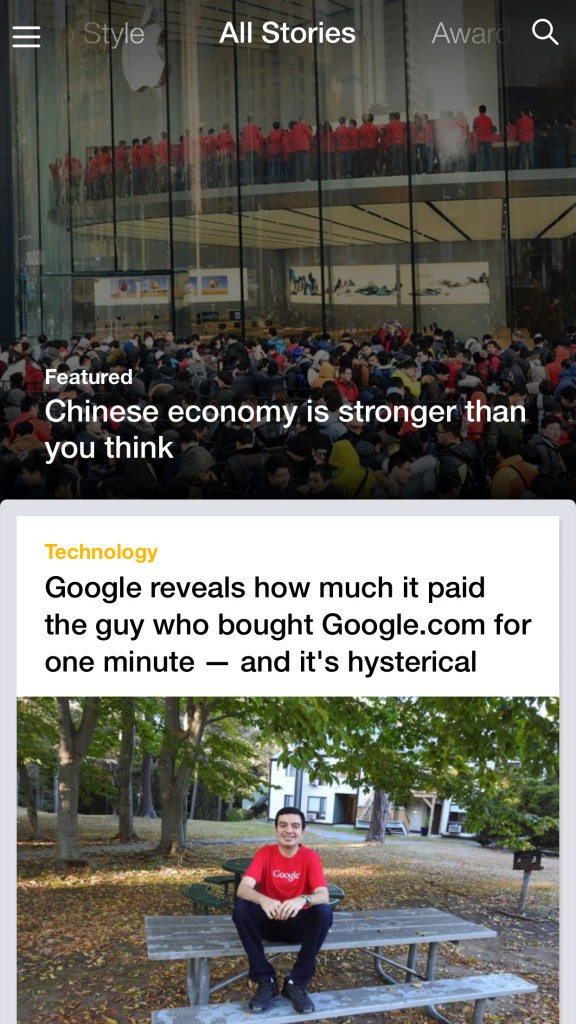 Yahoo updates its official iOS app with more personalized content
