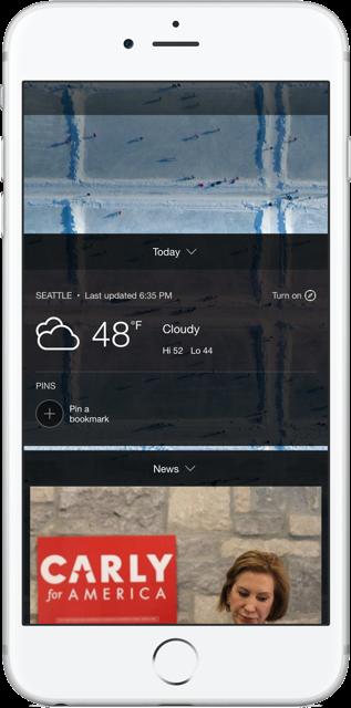 Bing Weather Pins