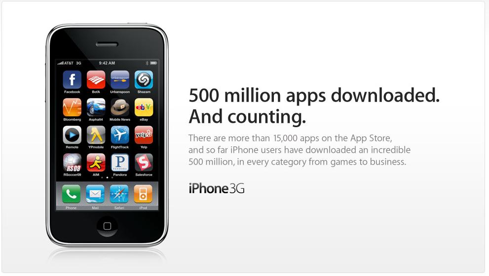 App Store Hits 500 Million Mark