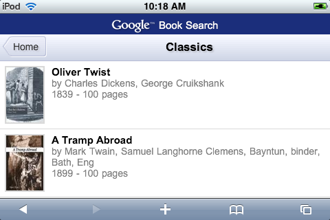 Google Book Search On The iPhone, Amazon Next?
